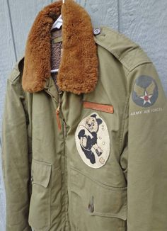 WW2 Stenciled B-10 Bomber Jacket