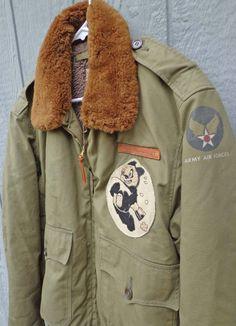 WW2 Stenciled B-10 Bomber Jacket