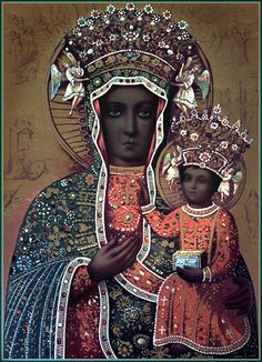 House of Virgo. Also known as Mary. Also known as Isis. Also known as Auset. essentialsublimeabsurd:  Black Madonna