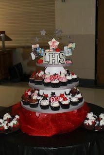 high school reunion cupcake tower