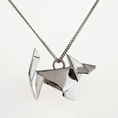 Origami dog necklace. Made of sterling silver. Nickel free. Shop exclusive design and high quality pieces at Juliette et Josephine online store.