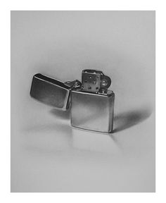 Pencil drawing of a Zippo. Drawing by ~golfiscool