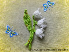 Lily of the Valley with link to free pattern, written instructions