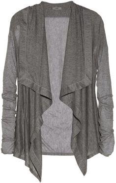 Helmut Lang Voltage draped Micro Modal cardigan on shopstyle.com