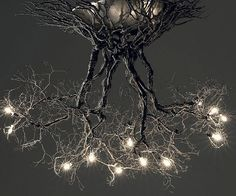 Help get more in tune with nature by installing the tree root chandelier in your home. The chandelier's unique design makes it seem as if a light bulb studded tree is growing out of the ceiling and conveniently illuminating the room below - making it ideal for nature lovers.