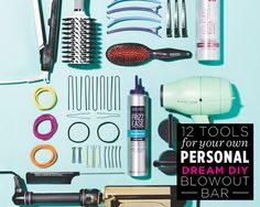 12 Tools for Your Own Personal Dream DIY Blowout Bar  - Photo by: Claire Benoist http://www.womenshealthmag.com/beauty/blowout-tools