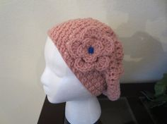 Spring Pink Pastel Slouchy Hat With Beautiful by MonkeyCatBoutique, $12.00