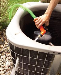 Instructions to clean your AC unit - save money and increase efficiency while prolonging the life of your unit! Could have used these this year!