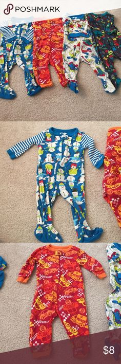 4 piece lot of children's place sleepers 4 piece lot of children's place Jammie's Children's Place Pajamas