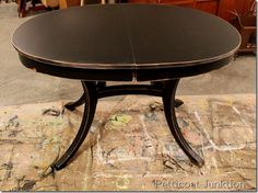 Black Painted Table Distressed, Petticoat Junktion