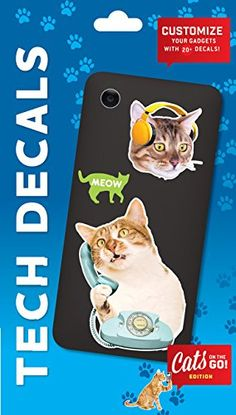 Cats on the Go Tech Decals by Chronicle Books  --Because cats.  And stickers.  And I'm 7.