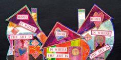 SWAP - Deadline is April 15th for participation. Tiny Gelli Houses © Lauri Jean Crowe 2015