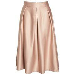 Plus Size Women's City Chic Pucker Up Pleated Satin Midi Skirt ($99) ❤ liked on Polyvore featuring skirts, mid-calf skirt, box pleat midi skirt, pink midi skirt, plus size knee length skirts and formal skirts #bestskirtlengthforplussize