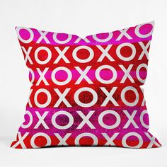 Sophia Buddenhagen Hugs And Kisses Throw Pillow | DENY Designs Home Accessories