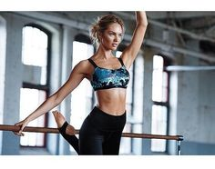 Pin for Later: See How the Victoria's Secret Angels Are Getting Fit For the Runway Candice Swanepoel The model is working with professional ballerina Mary Helen Bowers to stay fit by practicing targeted workouts inspired by dancing.