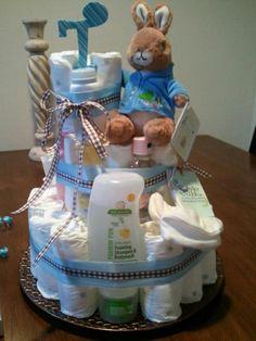 Peter Rabbit + Organic Diaper Cake