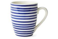S/4 Marseille Stripe Mugs, Blue