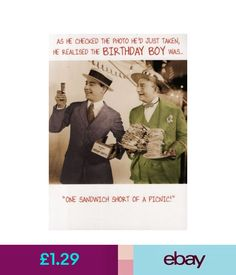 Cards & Stationery ' Sandwich Short Of A Picnic ' Funny Joke Birthday Card Humour Greeting Cards #ebay #Home & Garden