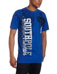 Southpole Men's Vertical Logo Caviar Shirt