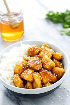 Honey Sesame Chicken Recipe | Food Recipes