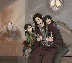 Maedhros, Maglor, Elrond and Elros