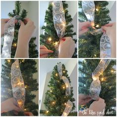 cool ways to wrap ribbon around a christmas tree | How-to Hang Ribbon on a Christmas Tree |