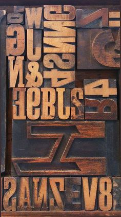 Design is fine. History is mine. — Letters for woodblock printing, late 19th century....