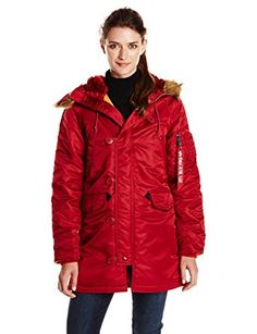 Alpha Industries Women s N-3B Slim Fit Flight Nylon Parka Review Parka  Style c435d22e492