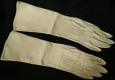 Vintage Kid Leather Opera Gloves by Christian Dior - White 1950s for sale at www.buckinghamvintage.co.uk