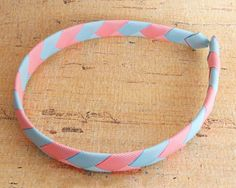 How to make a ribbon woven headband in the popular CHEVRON pattern! Instructions found on our blog.