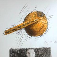 "13 Likes, 1 Comments - Aida Osmonova (@gengis_art) on Instagram: ""~~ #artnestoltes ~~ Dia 17 - nave Sketchbook 2 #challenge #day17 #fabercastell #polichromos…"""