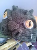 Godzilla inspired crochet beanie