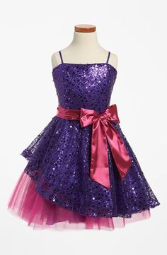 Un Deux Trois Sequin Dress (Big Girls) available at This a beautiful dress. It looks so beautiful on my princess Mia. Grad Dresses, Homecoming Dresses, Short Dresses, Formal Dresses, Sparkle Dresses, Prom Dress, Dance Outfits, Dress Outfits, Kids Outfits