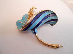 Boucher broochvintage brooch  8733P brooch blue by denise5960, $92.00