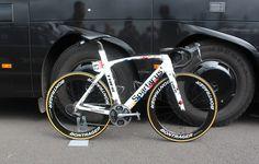 Fabian Cancellara's Trek Madone http://www.bicycling.com/bikes-gear/tour-de-france/the-coolest-custom-bikes-of-the-2016-tour-de-france/slide/1