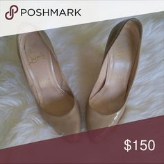 •Christian Louboutin• Nude Pumps Authentic louboutin. Bought from another posher and they're too small :( they are so beautiful. Come with the dust bag. Christian Louboutin Shoes