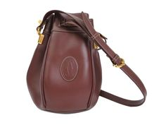 #Cartier Shoulder Bag Must Leather Bordeaux (BF106482): All of #eLADY's items are inspected carefully by expert authenticators who have years of experience. For more pre-owned luxury brand items, visit http://global.elady.com