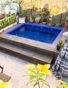 6 Beautiful Airbnbs You Can Still Book for the Rio Olympics Pools For Small Yards, Small Swimming Pools, Swimming Pools Backyard, Swimming Pool Designs, Pool Landscaping, Hot Tub Backyard, Small Backyard Pools, Small Patio, Kleiner Pool Design