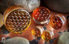 Glasswear Studios Amber honeycomb