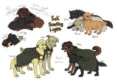 Attack on Titan Dogs Dump2 by Zencelot.deviantart.com on @deviantART-The Survey Corps Family and Squad Levi pooches