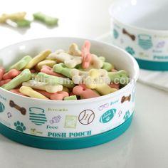 ceramic wholesale #dog_bowls with non-slip silicone base