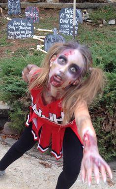 Creepy zombie cheerleader knee high socks special effects makeup zombie cheerleader solutioingenieria Gallery