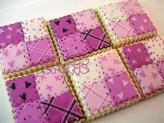 this would be cute to make a cookie quilt, but i'd make each cookie its own square instead of four per cookie