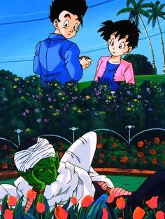 Piccolo, Gohan, and Videl Dragon Ball Z, Dbz Gohan, Chibi, Cute Dragons, Anime Screenshots, Animation, Memes, Geek Stuff, Fan Art