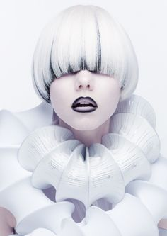 2013 Japan Hairdresser of the year 準グランプリ Creative Hairstyles, Cool Hairstyles, Color Fantasia, Avant Garde Hair, Foto Fashion, Corte Y Color, Hair Shows, Crazy Hair, White Hair