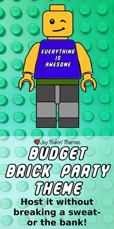 EVERYTHING IS AWESOME! And so's you're budget! Host a #LEGO movie theme party on a budget. http://www.joytroupe.com/lego-brick-party-theme/
