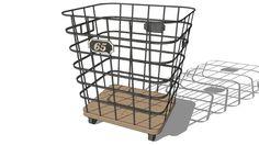 Large preview of 3D Model of CORBEILLE MANUFACTURE, maisons du monde, Réf. 138431 Prix:99,90 €