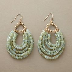 beaded hoop earrings.Craft ideas 7957 - LC.Pandahall.com