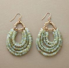 beaded hoop earrings.Craft ideas 7957 - LC.Pandahall.com