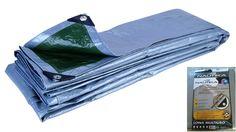 Lona Multiuso Nautika (tarp) Material: Polietileno de alta densidade Medida: 4mx3m. Reforço de plástico ABS nos cantos, presos com ilhós de alumínio. Dupla face (Prata/verde).